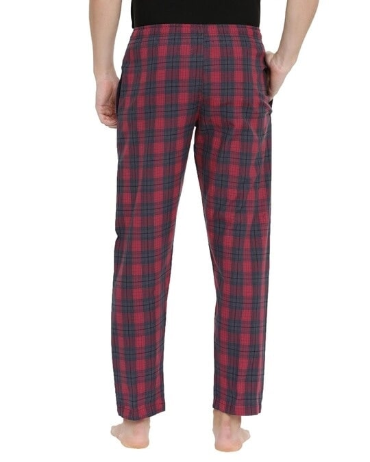 Shop Joven | Red and Grey Checked Pyjamas-Design