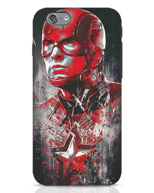 Shop Red Captain America iPhone 6 Mobile Cover-Front