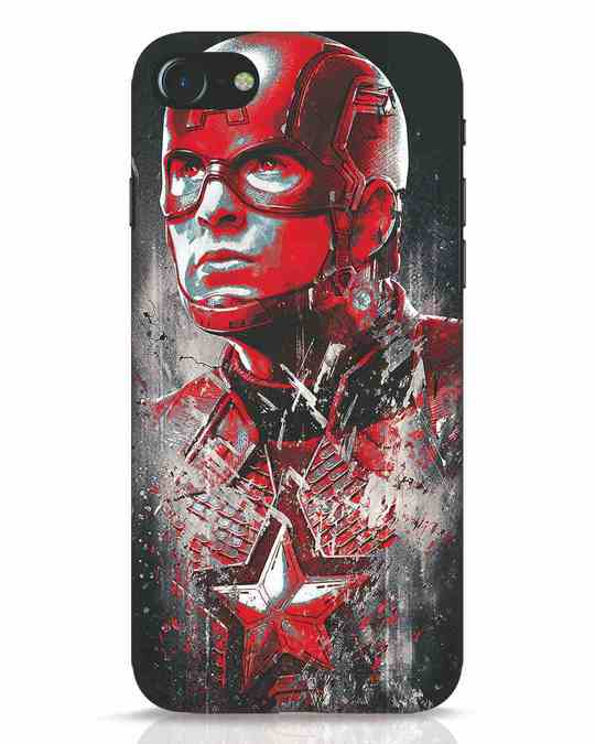 Shop Red Captain America iPhone 7 Mobile Cover-Front