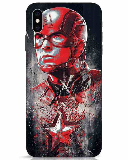 Shop Red Captain America iPhone XS Max Mobile Cover-Front