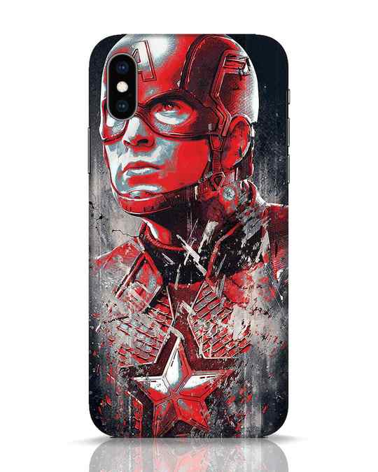 Shop Red Captain America iPhone XS Mobile Cover-Front