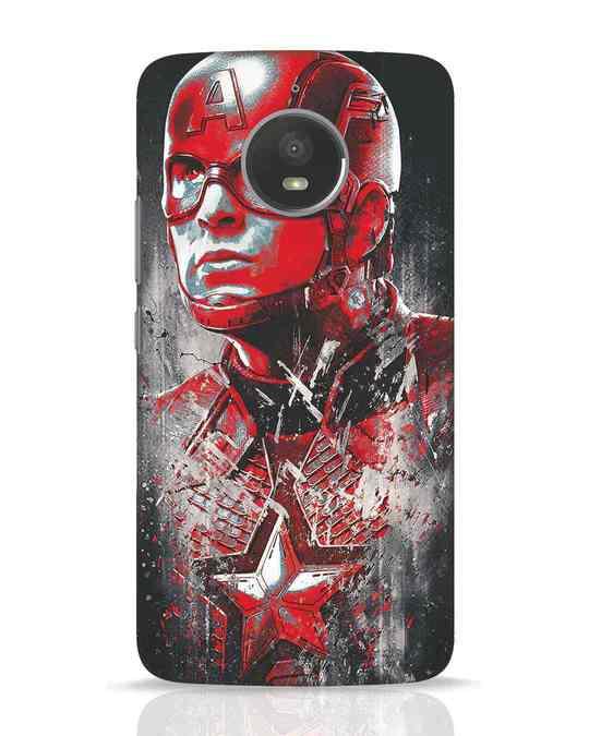 Shop Red Captain America Moto E4 Plus Mobile Cover-Front