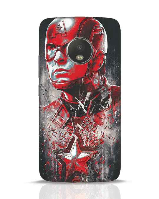 Shop Red Captain America Moto G5 Plus Mobile Cover-Front