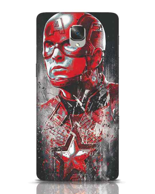 Shop Red Captain America OnePlus 3T Mobile Cover-Front