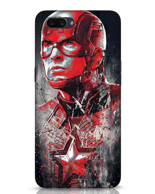 Shop Red Captain America Oppo A3S Mobile Cover-Front
