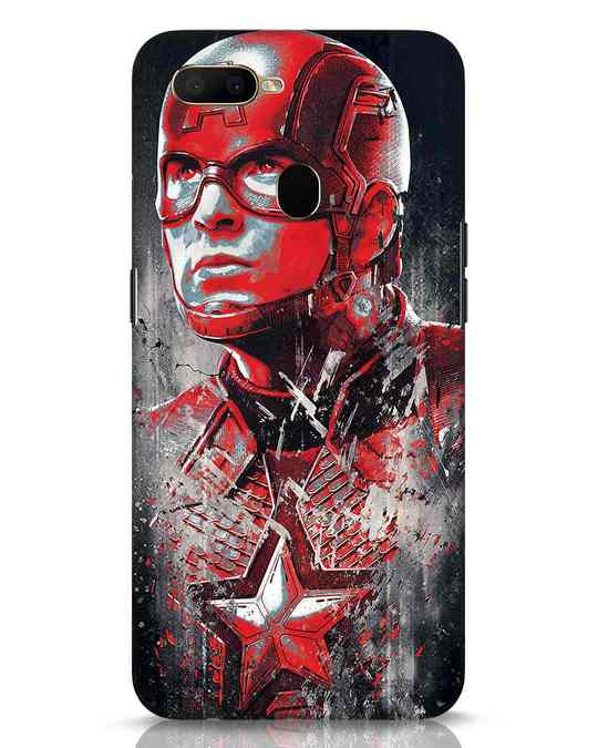 Shop Red Captain America Oppo A5s Mobile Cover-Front
