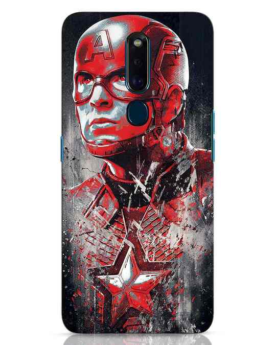 Shop Red Captain America Oppo F11 Pro Mobile Cover-Front