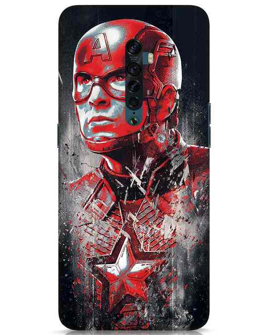 Shop Red Captain America Oppo Reno 2 Mobile Cover-Front