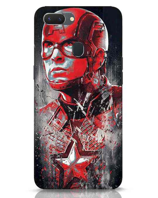 Shop Red Captain America Realme 2 Mobile Cover-Front