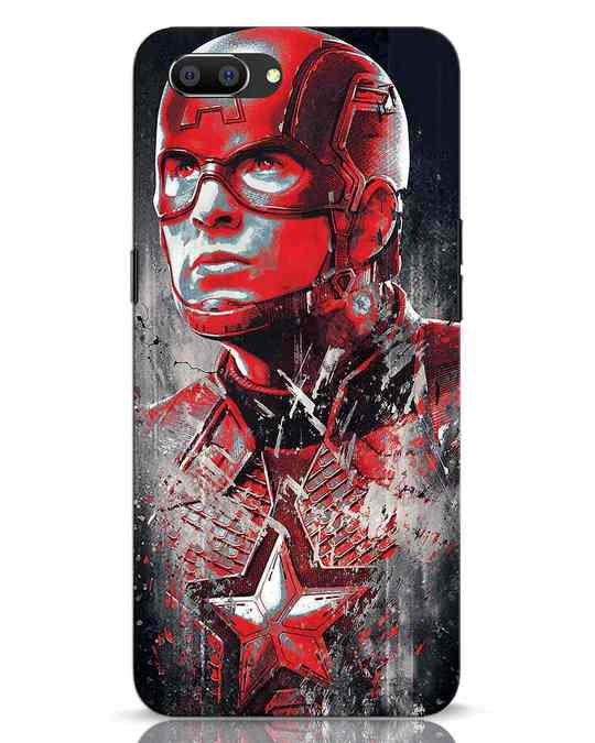 Shop Red Captain America Realme C1 Mobile Cover-Front