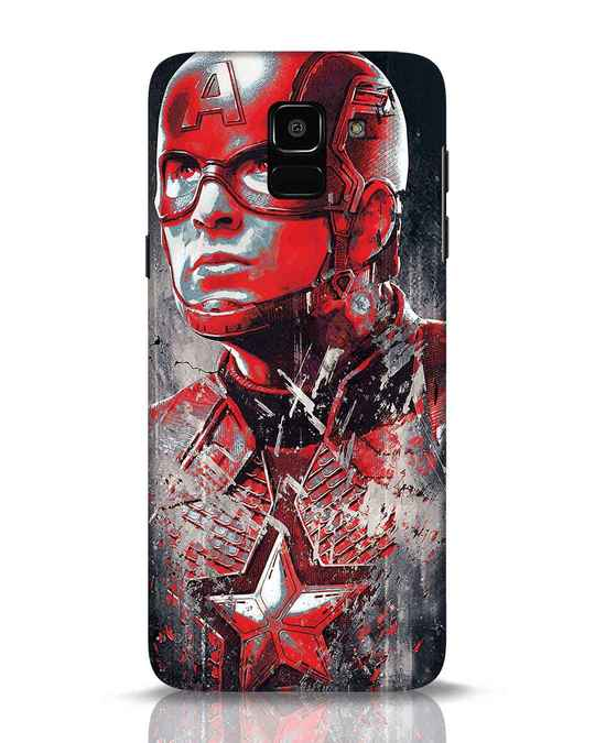 Shop Red Captain America Samsung Galaxy J6 Mobile Cover-Front