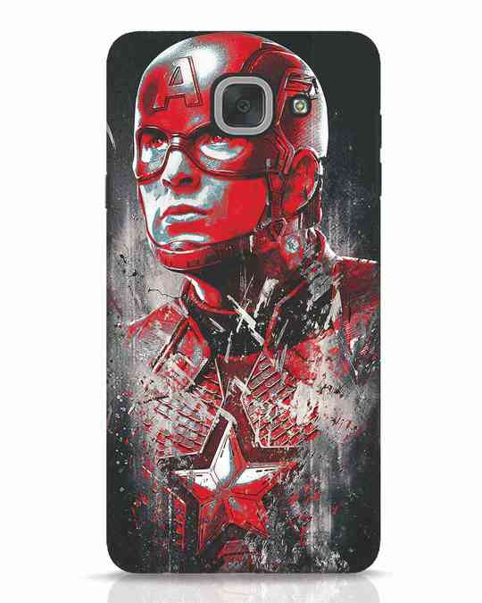 Shop Red Captain America Samsung Galaxy J7 Max Mobile Cover-Front