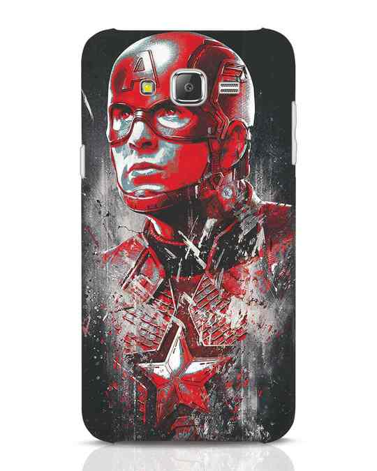 Shop Red Captain America Samsung Galaxy J7 Mobile Cover-Front