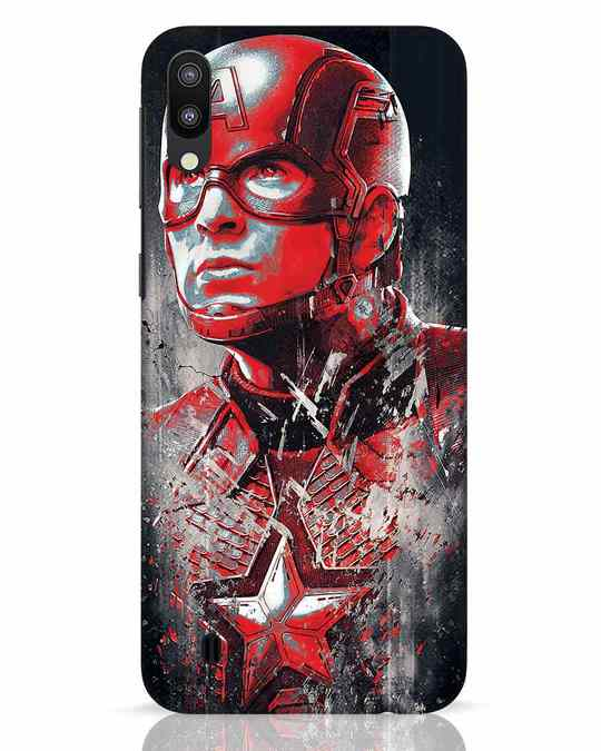 Shop Red Captain America Samsung Galaxy M10 Mobile Cover-Front