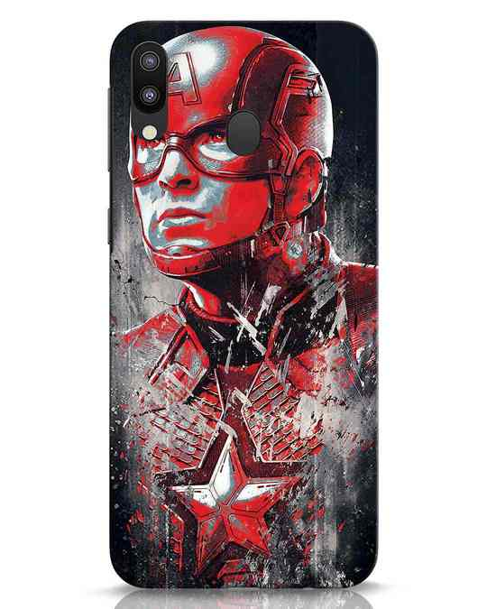 Shop Red Captain America Samsung Galaxy M20 Mobile Cover-Front