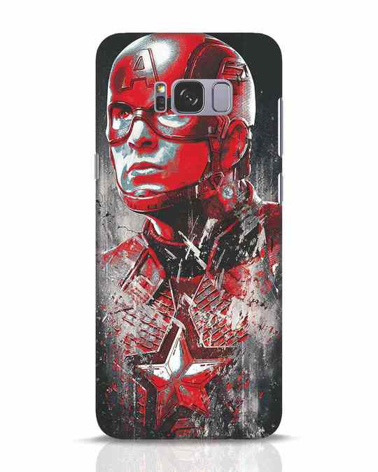 Shop Red Captain America Samsung Galaxy S8 Plus Mobile Cover-Front