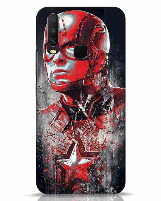 Shop Red Captain America Vivo Y17 Mobile Cover-Front