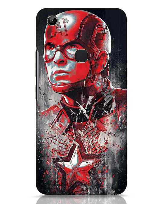 Shop Red Captain America Vivo Y81 Mobile Cover-Front