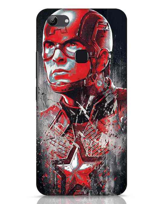 Shop Red Captain America Vivo Y83 Mobile Cover-Front
