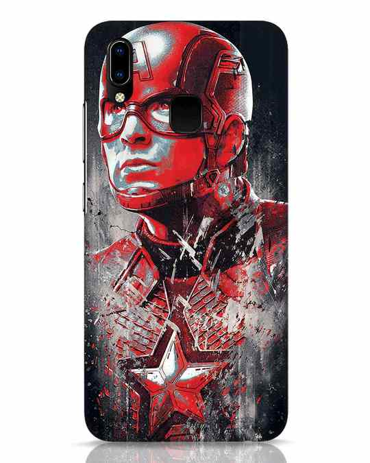 Shop Red Captain America Vivo Y93 Mobile Cover-Front