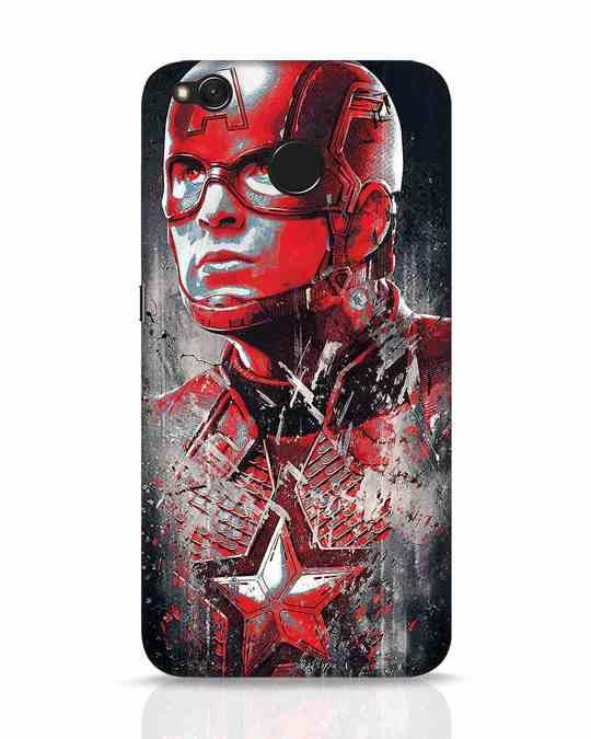 Shop Red Captain America Xiaomi Redmi 4 Mobile Cover-Front