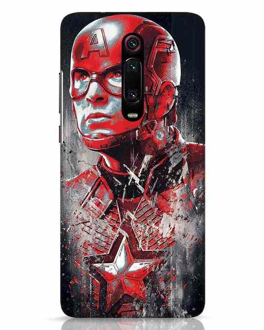 Shop Red Captain America Xiaomi Redmi K20 Pro Mobile Cover-Front