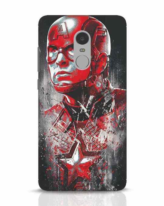 Shop Red Captain America Xiaomi Redmi Note 4 Mobile Cover-Front