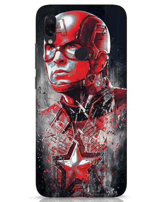 Shop Red Captain America Xiaomi Redmi Note 7s Mobile Cover-Front