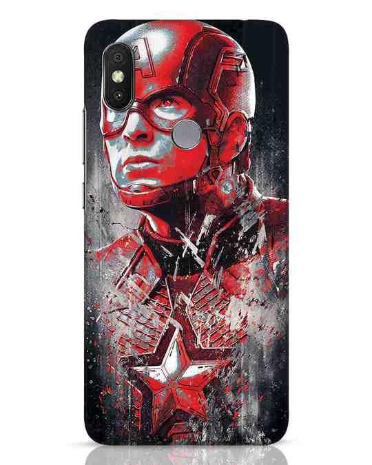 Shop Red Captain America Xiaomi Redmi Y2 Mobile Cover-Front