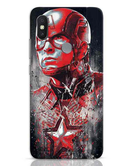 Shop Red Captain America Xiaomi Redmi Y2 Mobile Cover-Front