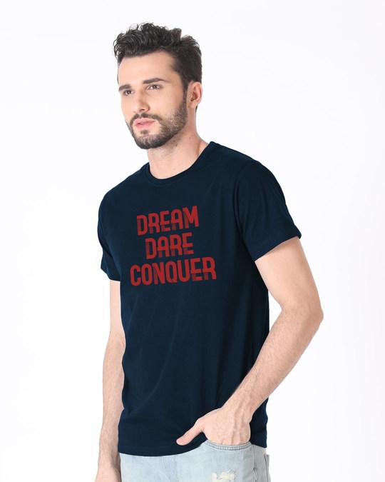 Shop Red Conqueror Half Sleeve T-Shirt-Full