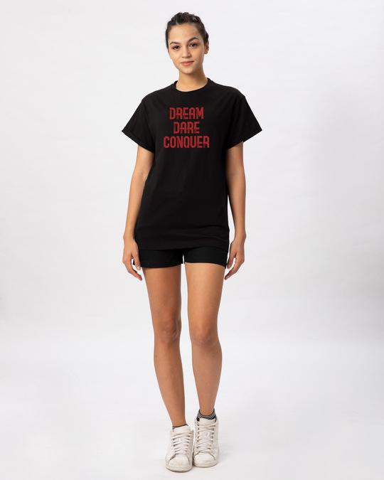 Shop Red Conqueror Boyfriend T-Shirt