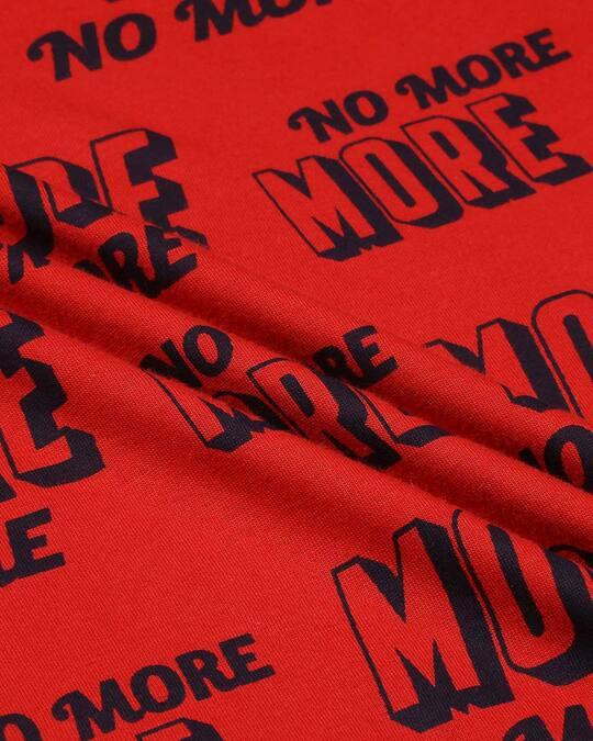 Shop Red No more AOP Half Sleeve T-Shirt