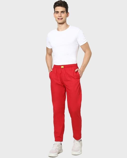 Shop Red Passion Plain Pyjama-Full