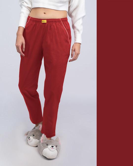 Shop Red Passion Plain Pyjama-Front