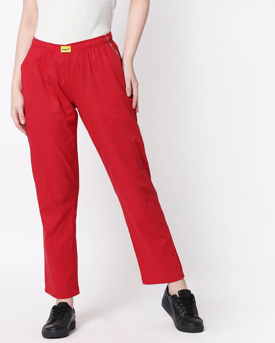 Shop Red Passion Plain Pyjama-Back