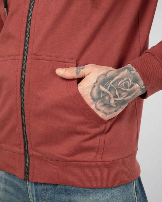 Shop Red Pear Fleece Zipper Hoodies