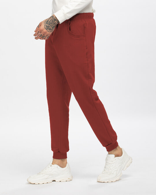 Shop Red Pear Men's Casual Joggers-Back