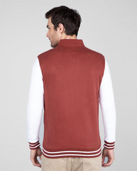 Shop Red Pear Varsity Bomber Jacket-Full