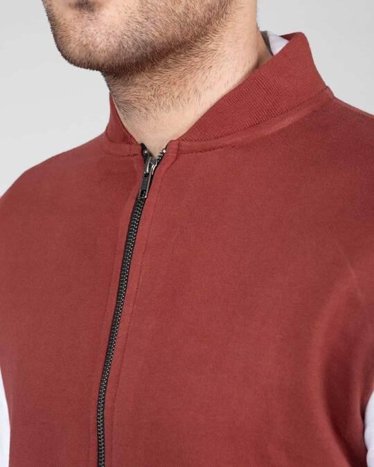 Shop Red Pear Varsity Bomber Jacket