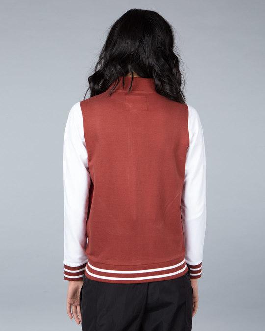 Shop Red Pear Varsity Plain Bomber Jacket-Design