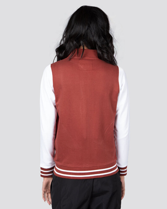 Shop Red Pear Varsity Plain Bomber Jacket-Design