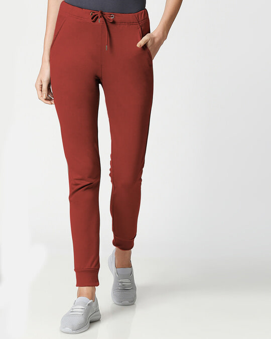 Shop Red Pear Women's Casual Joggers-Front