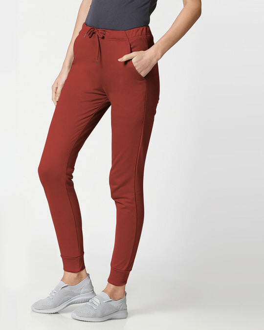 Shop Red Pear Women's Casual Joggers-Back