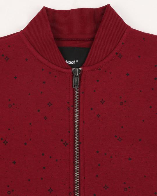 Shop Red Plum AOP Zipper Bomber Jacket