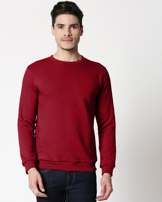 Shop Red Plum Fleece Sweater-Front