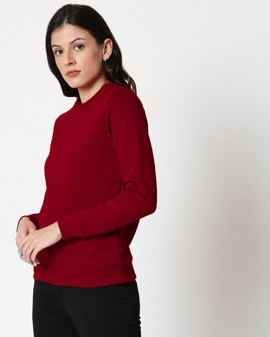 Shop Red Plum Fleece Sweater-Back