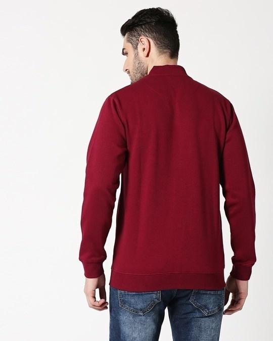 Shop Red Plum Zipper Bomber Jacket-Full