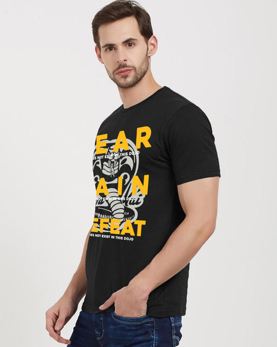 Shop Fear, Pain, And Defeat Cotton Half Sleeves T Shirt-Back