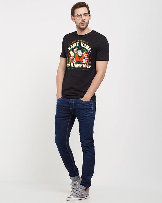 Shop Goku: Kame Hame Ramen Official Dragon Ball Z Cotton Half Sleeves T Shirt-Design